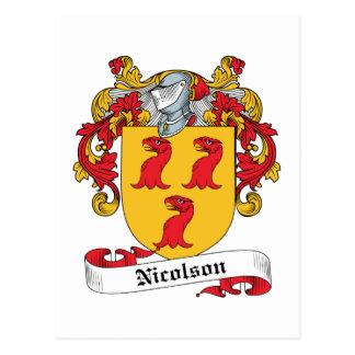 Escudo de la familia de Nicolson Tarjetas Postales