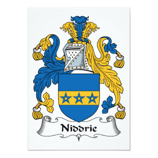 """Escudo de la familia de Niddrie Invitación 5"""" X 7"""""""