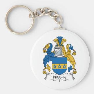 Escudo de la familia de Niddrie Llavero Redondo Tipo Pin