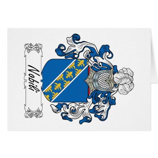 Escudo de la familia de Nobili Felicitación