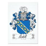 Escudo de la familia de Nobili Invitación 12,7 X 17,8 Cm