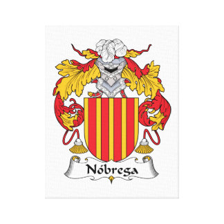 Escudo de la familia de Nobrega Impresión De Lienzo