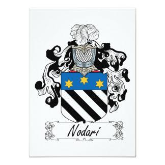 Escudo de la familia de Nodari Invitación 12,7 X 17,8 Cm