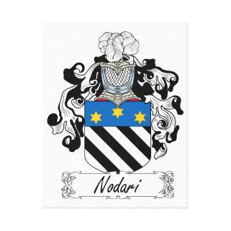 Escudo de la familia de Nodari Lona Envuelta Para Galerias