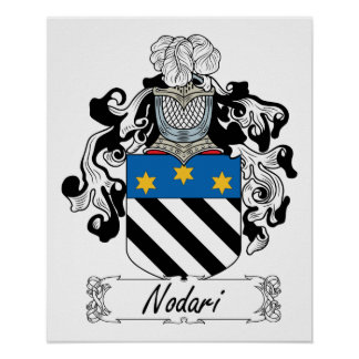 Escudo de la familia de Nodari Posters
