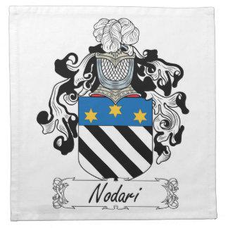 Escudo de la familia de Nodari Servilleta De Papel