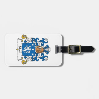 Escudo de la familia de Noel Etiquetas Bolsas