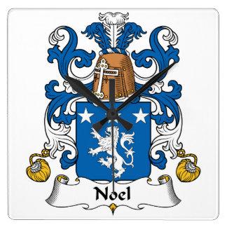 Escudo de la familia de Noel Relojes De Pared