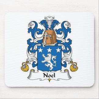 Escudo de la familia de Noel Tapetes De Ratones
