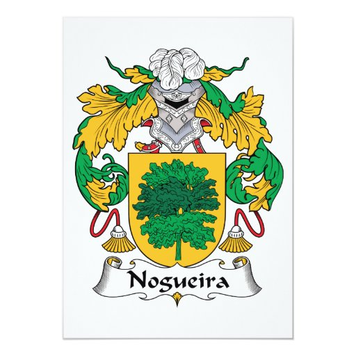 Escudo de la familia de Nogueira Invitación 12,7 X 17,8 Cm