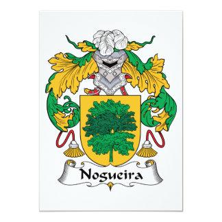 """Escudo de la familia de Nogueira Invitación 5"""" X 7"""""""