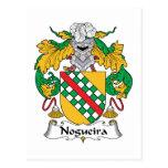 Escudo de la familia de Nogueira Tarjeta Postal