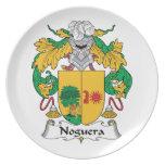 Escudo de la familia de Noguera Platos Para Fiestas