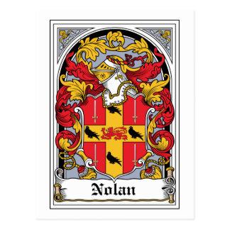 Escudo de la familia de Nolan Tarjeta Postal