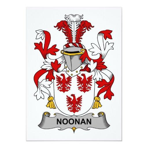 """Escudo de la familia de Noonan Invitación 5"""" X 7"""""""