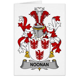 Escudo de la familia de Noonan Tarjeta De Felicitación