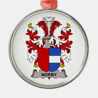 Escudo de la familia de Norby Adorno Redondo Plateado