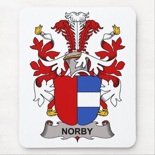 Escudo de la familia de Norby Tapetes De Raton