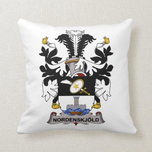 Escudo de la familia de Nordenskjold Almohadas