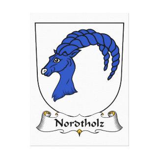 Escudo de la familia de Nordtholz Lona Estirada Galerias