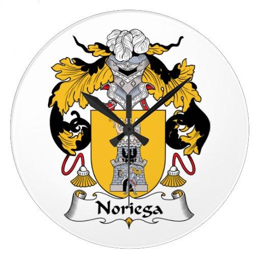Escudo de la familia de Noriega Reloj Redondo Grande