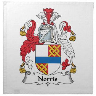 Escudo de la familia de Norris Servilletas De Papel
