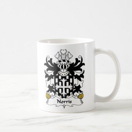 Escudo de la familia de Norris Tazas De Café