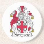 Escudo de la familia de Northwood Posavasos Cerveza