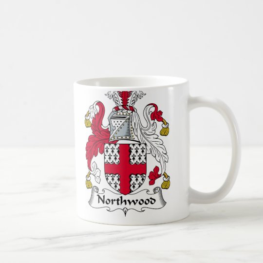 Escudo de la familia de Northwood Taza De Café