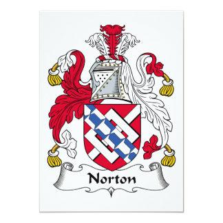 """Escudo de la familia de Norton Invitación 5"""" X 7"""""""