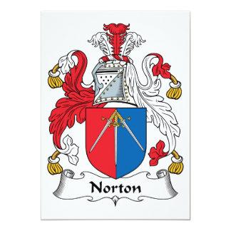 Escudo de la familia de Norton Invitación 12,7 X 17,8 Cm