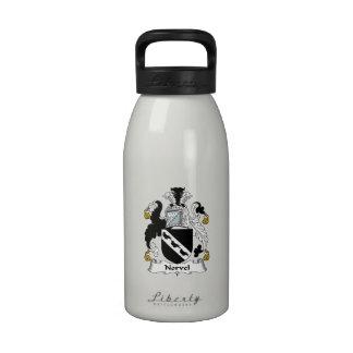Escudo de la familia de Norvel Botellas De Agua Reutilizables
