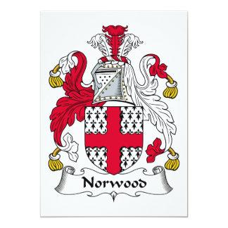 """Escudo de la familia de Norwood Invitación 5"""" X 7"""""""