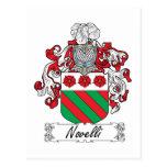 Escudo de la familia de Novelli Tarjetas Postales