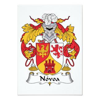 Escudo de la familia de Novoa Invitación 12,7 X 17,8 Cm