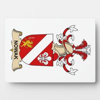 Escudo de la familia de Nowak Placas Con Foto