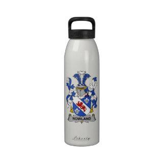 Escudo de la familia de Nowland Botellas De Beber