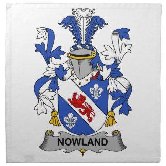 Escudo de la familia de Nowland Servilletas De Papel