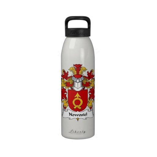 Escudo de la familia de Nowosiel Botella De Agua Reutilizable