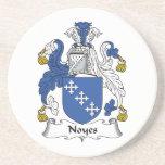 Escudo de la familia de Noyes Posavasos Personalizados