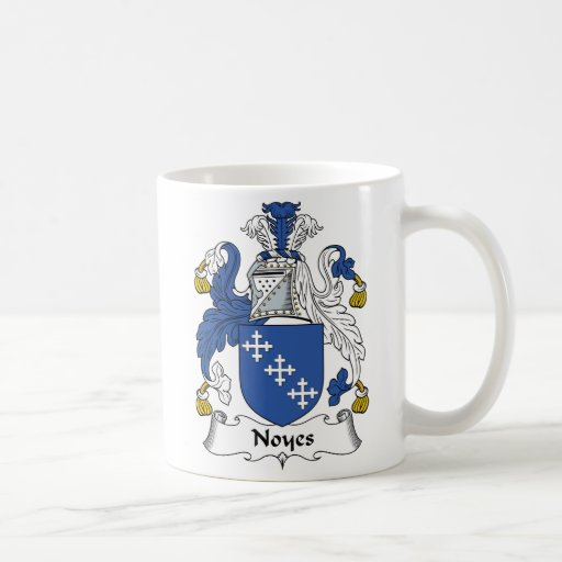Escudo de la familia de Noyes Tazas De Café