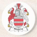 Escudo de la familia de Nugent Posavasos Para Bebidas