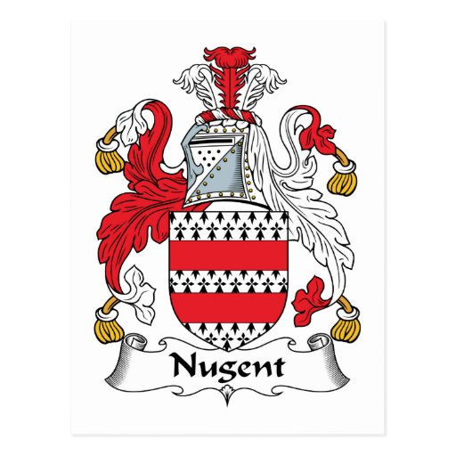 Escudo de la familia de Nugent Postal
