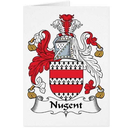 Escudo de la familia de Nugent Tarjeta