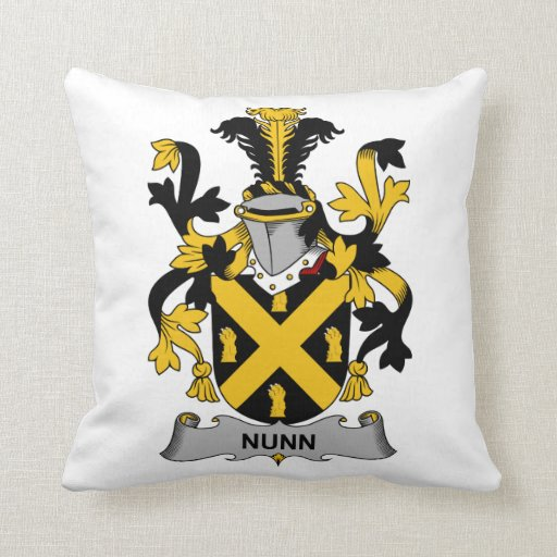 Escudo de la familia de Nunn Cojines