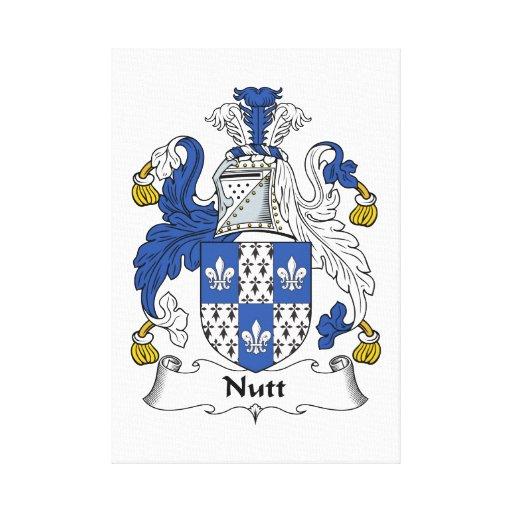 Escudo de la familia de Nutt Lona Envuelta Para Galerias