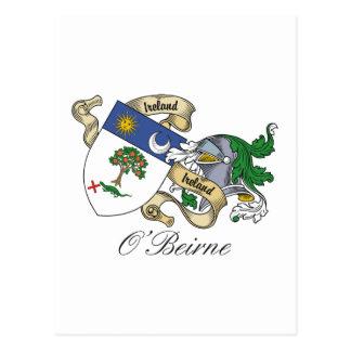 Escudo de la familia de O Beirne Postales