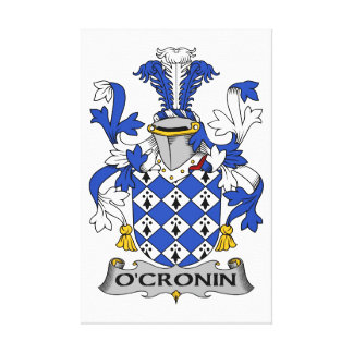 Escudo de la familia de O Cronin Lienzo Envuelto Para Galerias