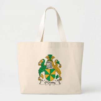 Escudo de la familia de O Crotty Bolsas Lienzo