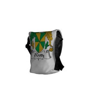 Escudo de la familia de O Crotty Bolsa De Mensajeria